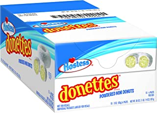 Hostess Donettes Mini Donuts, Powdered, 3 Ounce, 10 Count
