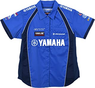 JH DESIGN GROUP Women's Yamaha Racing Embroidered Crew Shirts in Blue & Red