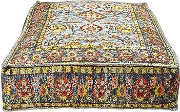 Capa de almofada Mandala Life Art Bohemian Yoga Decor – 60,96 x 20,32 cm – Fronha de carpete quadrada meditação – Capa de ...