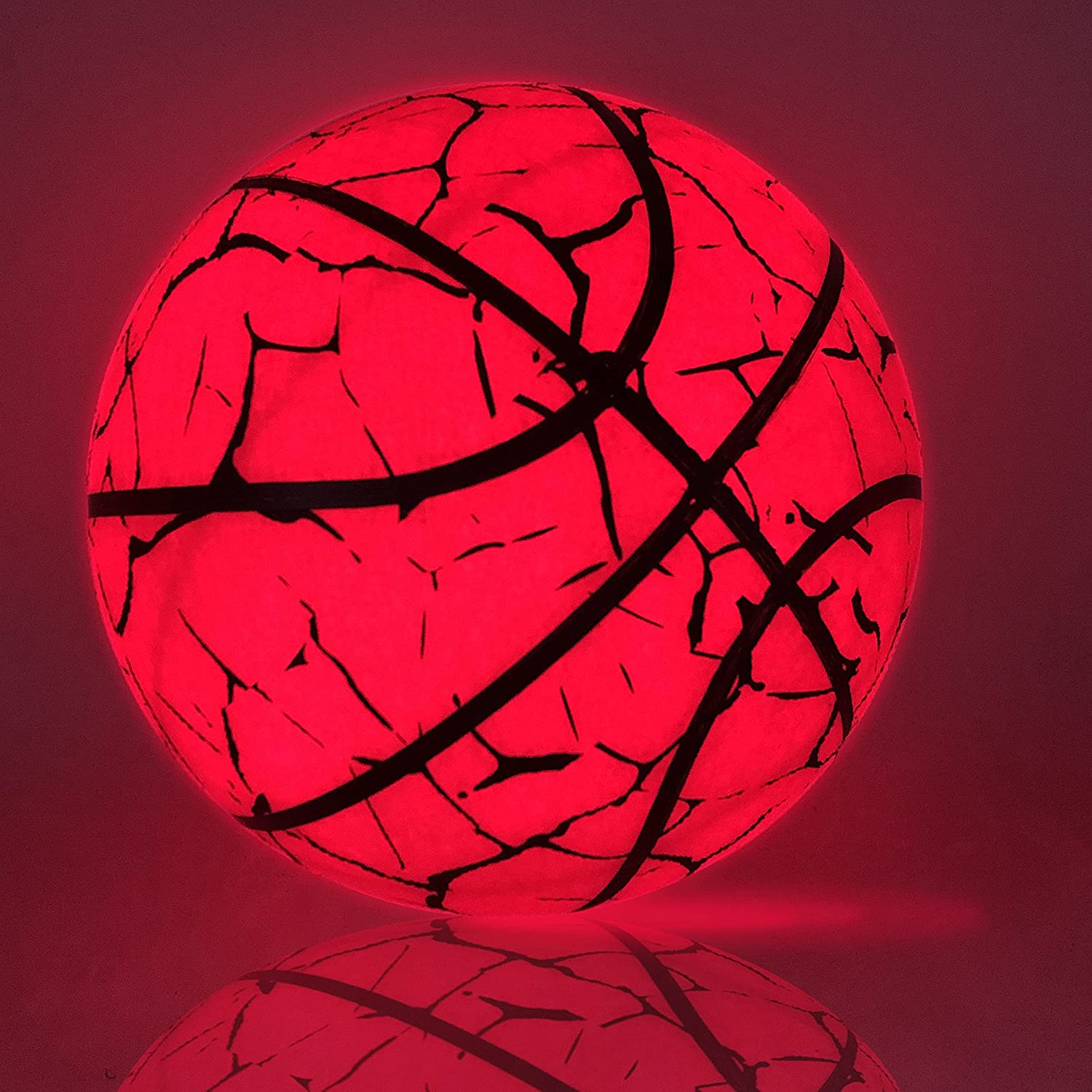 Sale special price BOGUAN Holographic Reflective Glowing Basketball-Glow in Dar Long-awaited The