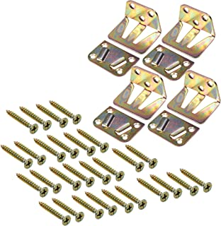 BCP 4 Sets Wood Bed Mattress Support Metal Fastener, Screw Included
