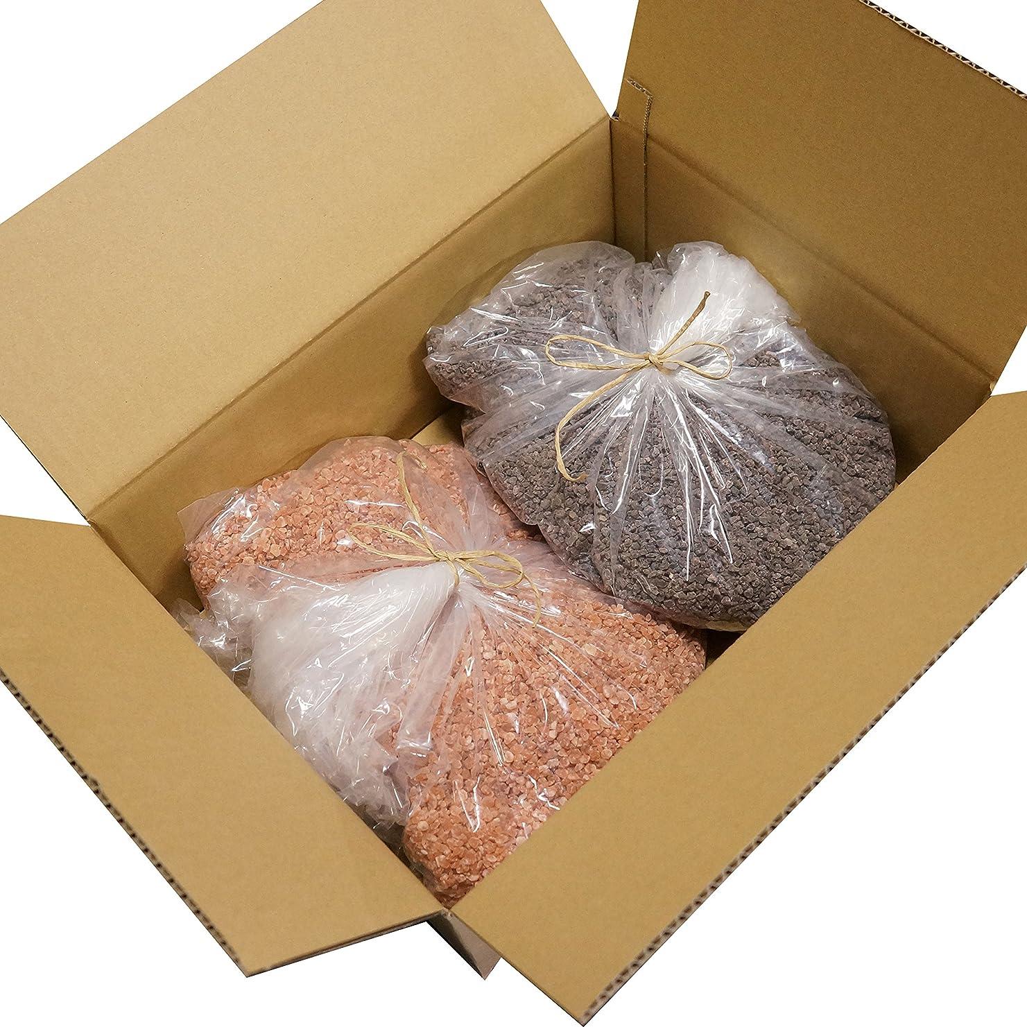 十分にピアノベスビオ山ヒマラヤ岩塩 ピンク ブラック グレイン 各 10,000g 20kg 粗粒 ミル 原料