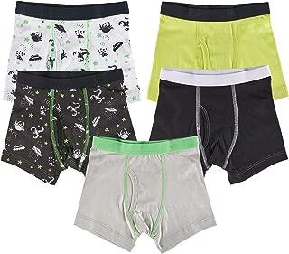 Boys 100% Cotton Tagless Boxer Briefs Underwear 5-Pack