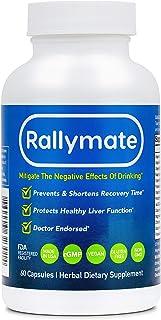 Rallymate Alcohol Recovery Pills (60-Vegan Capsules) - Electrolytes, Vitamins, Amino Acids, NAC, Dihydromyricetin DHM - De...