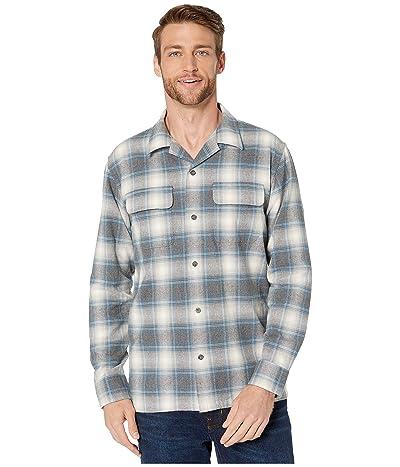 Pendleton Plaid Flannel Board Shirt (Grey/Blue Plaid) Men