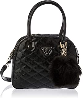 GUESS Women's Satchel Handbag, Black - SG747905