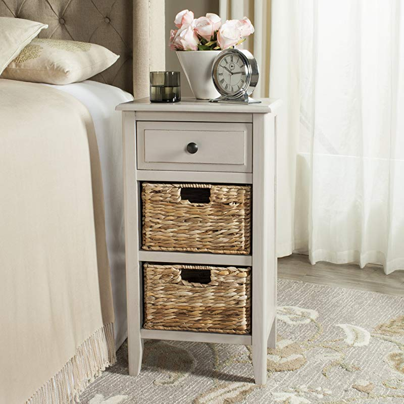 Safavieh American Homes Collection Everly Vintage Grey Side Table