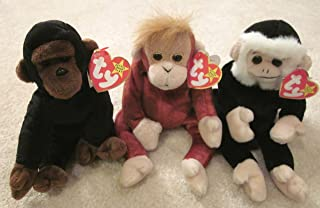 Set of Three Ty Beanie Babies - Congo, Schweetheart and Mooch by Ty