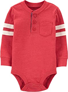 OshKosh B'Gosh baby-boys Pocket Henley Bodysuit