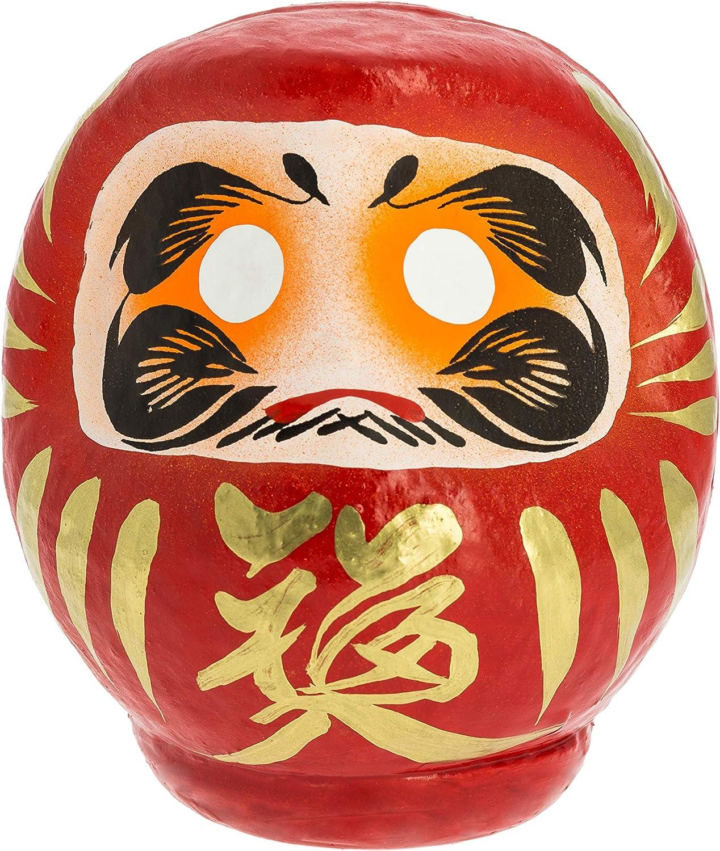Tierra Zen Daruma, Papel maché Pintado, Rojo, 11 cm