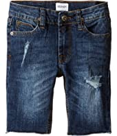 Hudson Kids Hess Cut Off Slim Straight Shorts in Medium Stone Used (Toddler/Little Kids/Big Kids)