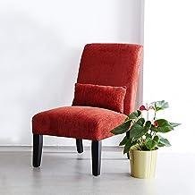 أريكة ليفينا روي واحدة ليزي الترفيه مع مقعد وسادة، كرسي بدون ذراعين للمنزل وغرفة النوم وغرفة المعيشة والشرفة والصالة (أحمر)