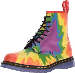 Dr. Martens Womens Unisex-Adult 1460 Pride Tyedye Multi Size: