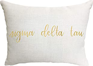 Sigma Delta Tau Sorority Throw Pillow