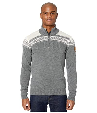 Dale of Norway Cortina Merino Masculine Sweater (Smoke/Off-White) Men