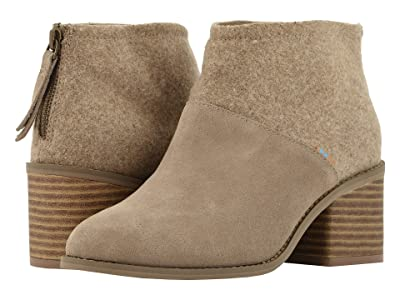 TOMS Lacy (Desert Taupe Suede/Felt mix) Women