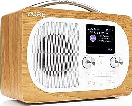 Pure Evoke H4 Portable FM/DAB+/DAB Digital Radio - DAB Radio with Bluetooth Music Streaming, Alarms, Touch-Sensitive Snooz...