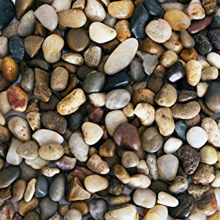 Galashield River Rocks Polished Pebbles Decorative Stones Natural Aquarium Gravel (2 lb Bag)