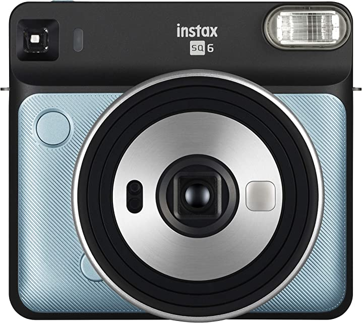 Fujifilm Instax SQ6 Cámara Analógica Instantánea Formato Cuadrado Color Azul Agua Square