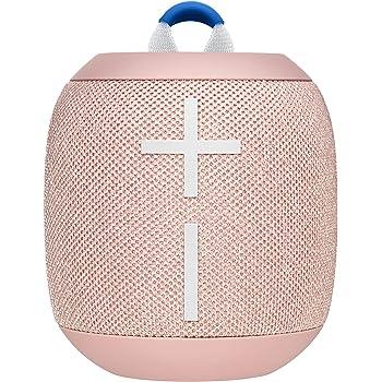 Ultimate Ears Wonderboom 2 Tragbarer Bluetooth-Lautsprecher, 360° Sound, Wasserdicht & Staubdicht, Outdoor-Modus, Verbinden Sie 2 Lautsprecher für Stereo-Sound, 13-Stunden Akkulaufzeit - peach/rosa