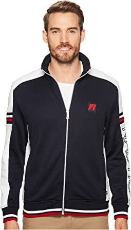 Nautica Long Sleeve Retro Track Jacket