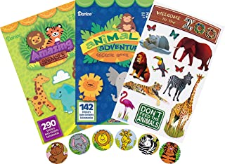 Amazing Animals, Animal Adventures Assorted Sticker Books for Kids Plus Welcome to The Zoo and Zoo Animals Stickers - 2 Books Plus 84 Additional Stickers - Over 500 Stickers - Bundle