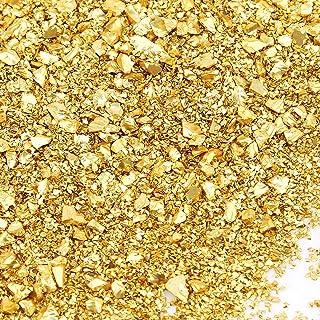Oro AIEX 100g 1-5mm Vetro Schiacciato Vetro Metallico Schiacciato Riflettente Glitter Perline Gemme Chip per Fai da Te Resina Chiodo Vaso Riempitivo Scrapbooing Gioielli Decorazione Artigianale