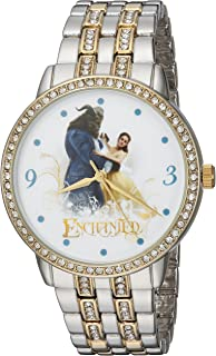 Disney Women's 'Beauty' Quartz Metal and Alloy Casual Watch, Color:Two Tone (Model: WDS000318)