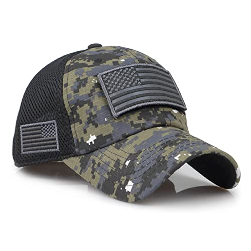 Sox Market Camouflage Constructed Trucker Special Tactical Operator Forces  USA Flag Patch Baseball Cap fca99a064c