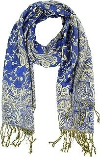 Paskmlna Reversible Paisley Pashmina Shawl Wrap Elegant Colors