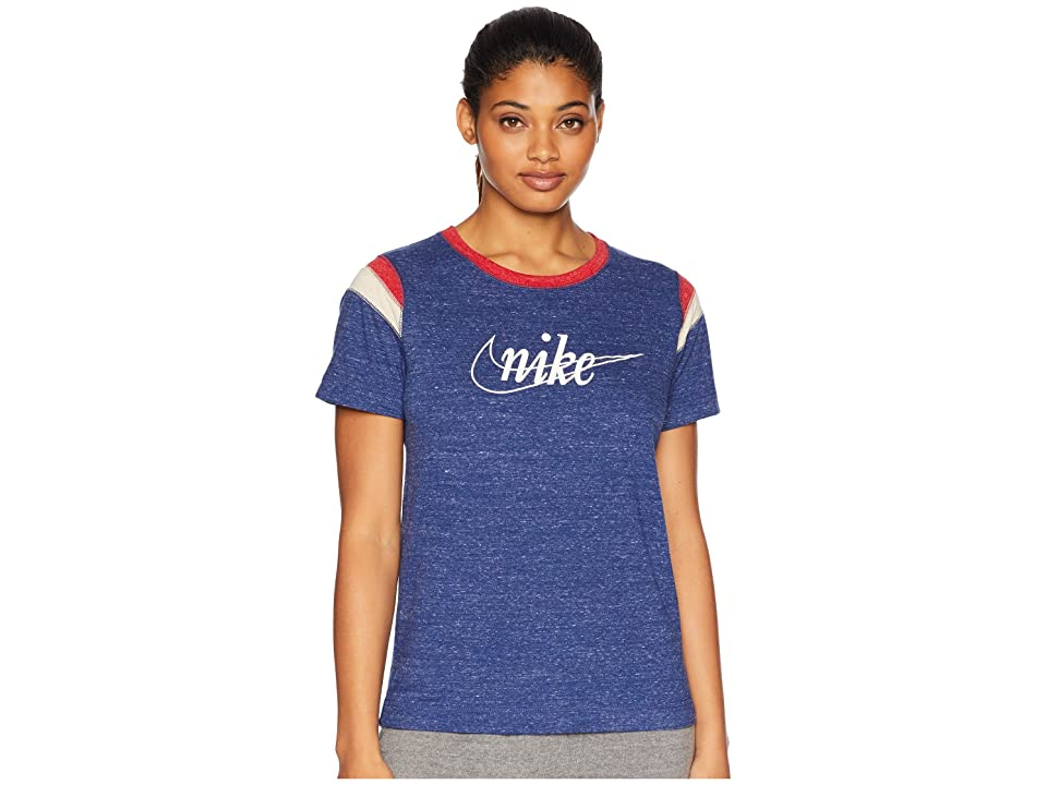 Nike Gym Vintage Short Sleeve HBR (Blue Void/Sail) Women