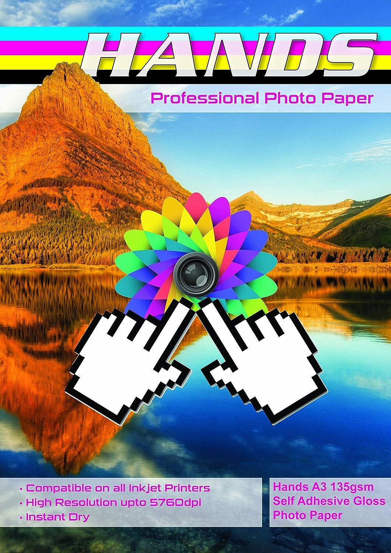 Hände, A3, 135 g m², selbstklebend, selbstklebend, selbstklebend, glänzend, 100 Blatt B077Y63KQG    Louis, ausführlich  cdddec