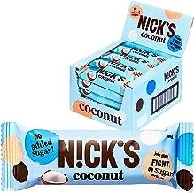 Nicks Coconut Chocolate Coated Coconut Bar no Added Sugar Gluten Free 20 x 40g Estimated Price : £ 19,90
