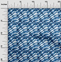 oneOone Cotton Poplin Twill Dark Navy Blue Fabric Print Shibori Craft Projects Decor Fabric Printed by The Meter 56 Inch Wide