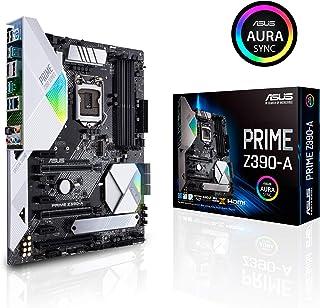 ASUS Prime Z390-A - Placa base ATX Intel de 8a y 9a gen. LGA1151 con Overclocking por IA, DDR4 4266 MHz, dos M.2, Iluminación RGB Aura, SATA 6 Gb/s y USB 3.1 Gen. 2 tipo C