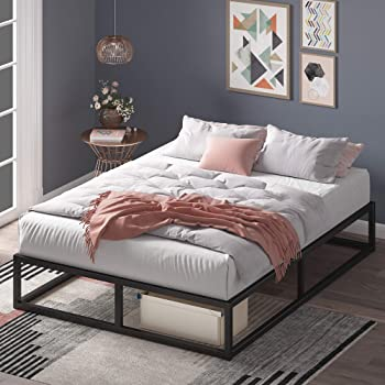 Zinus Joseph 10 Inch Metal Platforma Bed Frame / Mattress Foundation / Wood Slat Support / No Box Spring Needed / Sturdy Steel Structure, Queen