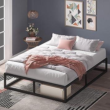 ZINUS Joseph Metal Platforma Bed Frame / Mattress Foundation / Wood Slat Support / No Box Spring Needed / Sturdy Steel Structure, Queen