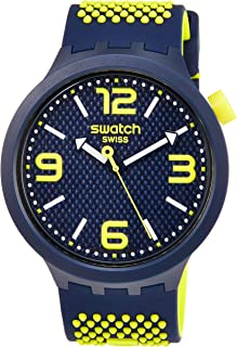 Swatch BBNEON Quartz Blue Dial Men's Watch SO27N102