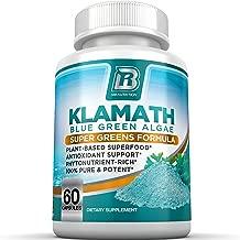 BRI Nutrition Klamath Blue Green Algae - More Effective Than Spirulina or Chlorella - from The Clean Pure Source of Klamath Lake, 500mg 60ct Gel Capsules