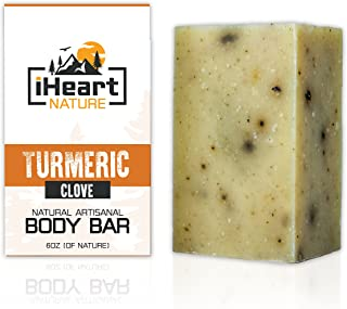 Organic Turmeric Soap Bar (Large 6 Ounce) Made in USA (Turmeric Helps Minimize Acne,..