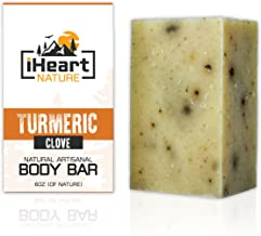 Organic Turmeric Soap Bar (Large 6 Ounce) Made in USA (Turmeric Helps Minimize Acne,..