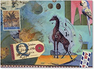 Giraffe by Nick Bantock, 18x24-Inch Canvas Wall Art