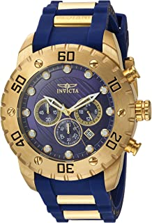Invicta Men's Pro Diver Stainless Steel Quartz Watch with Polyurethane Strap, Blue, 25 (Model: 20280)