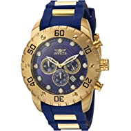 Invicta Men's Pro Diver Stainless Steel Quartz Watch with Polyurethane Strap, Blue, 25 (Model: 20280