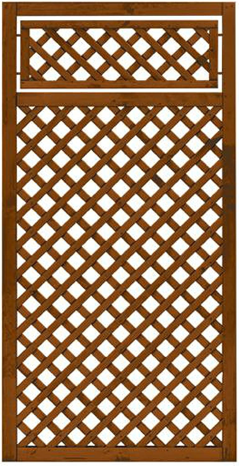 Andrewex wooden fence, fencing panel, garden fence 180 x 90, varnished, brown
