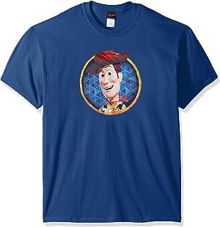 Disney Men's Toy Story Woody Circle Graphic T-Shirt