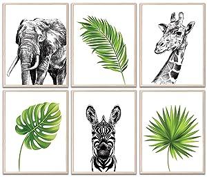 Baby Nursery Decor, Safari Nursery Decor, Nursery Wall Decor, Safari Decor Nursery, Baby Decor, Jungle Decor, Nursery Wall Art, Baby Wall Decor, Jungle Nursery Decor, 6 Baby Animal Pictures | 8
