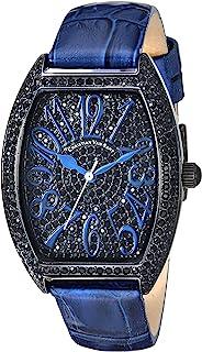 Christian Van Sant Women's Elegant Analog Quartz Leather Strap, Blue, 16 Casual Watch (Model: CV4824)