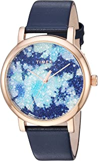 Timex Women's Crystal Bloom Swarovski Fabric Dial 38mm