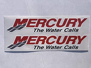 2 Mercury The Water Calls Decals by SBDdecals.com (6 Inch)